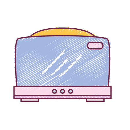 domestic: Technology toaster electric kitchen utensil vector illustration Illustration