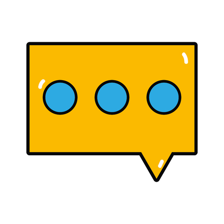 A chat bubble to dialogue message text  illustration Illustration
