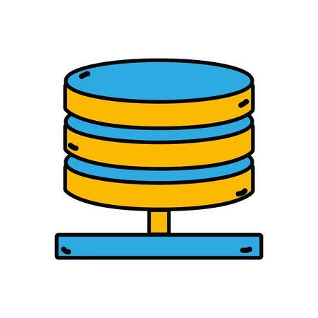 A database technology to server connection  illustration Illustration