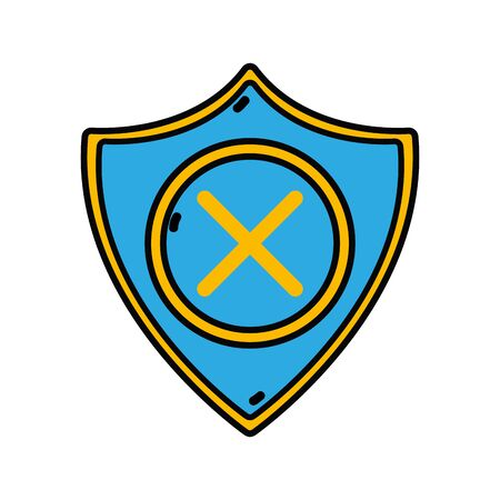 security symbol: Security shield to technology protection icon  illustration Illustration