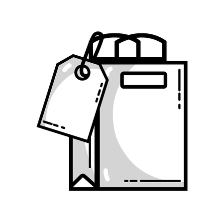 line shopping bag with tag to marketing strategy