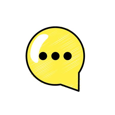 chat bubble communication notes message vector illustration Illustration