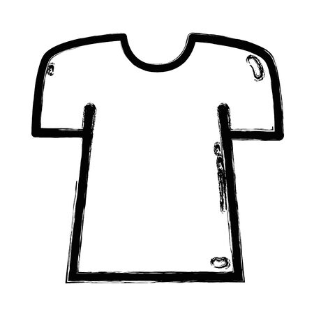 Figure fashion shirt clothes with beauty style vector illustration. Illustration