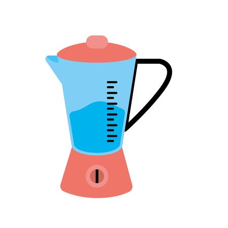 blender technology kitchen utensil object vector illustration