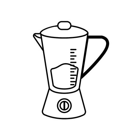 Line blender technology kitchen utensil object vector illustration Illustration