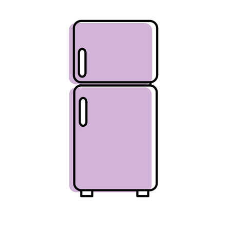 fridge technology kitchen utensil object vector illustration