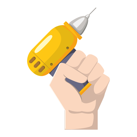Drill equipment service industry repair in the hand Illustration