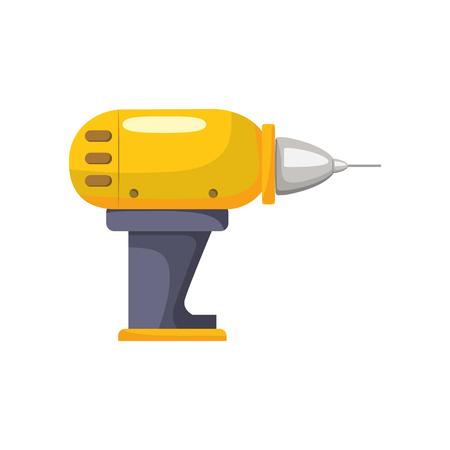 Drill equipment service industry repair vector illustration.