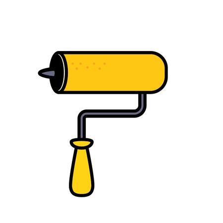 Mallet equipment service industry repair vector illustration.