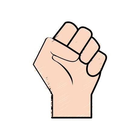 Hand tight with all fingers design vector illustration Ilustração