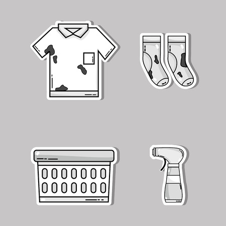 set laundry equipment to clean the clothes