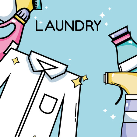 laundry equipment to clean the clothes and housework