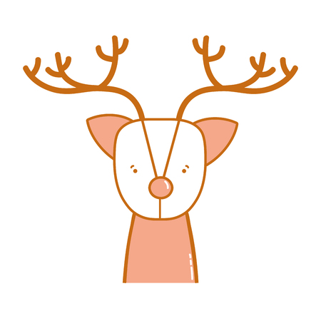cute reindeer wildlife animal reserve vector illustration