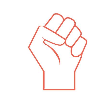 silhouette hand tight with all fingers design Ilustração