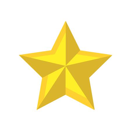 Shiny star and merry christmas symbol vector illustration Illustration