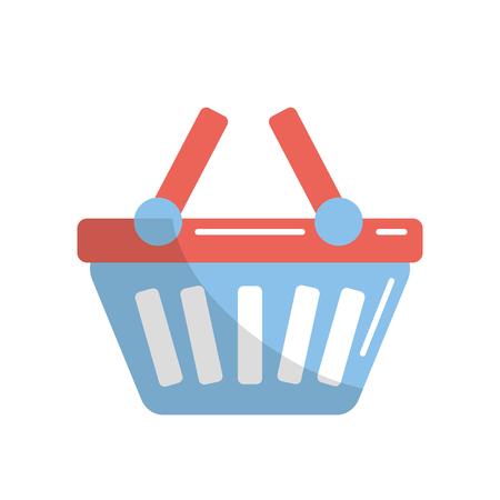 Shopping basket icon symbol to buy vector illustration