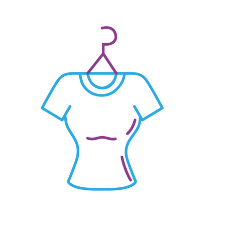 Clothing online shop icon vector illustration