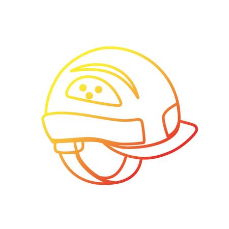Helmet equipment to industry service construction vector illustration
