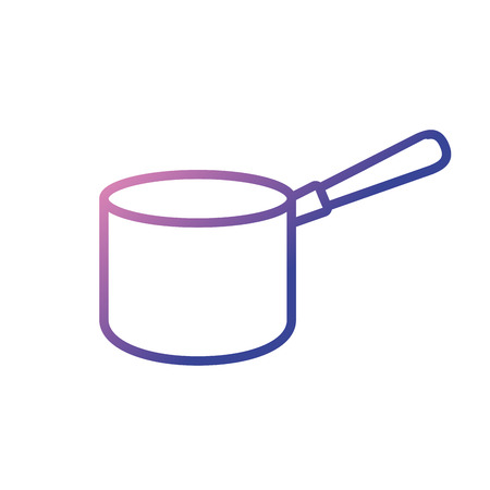 Line icon of a pot Illustration