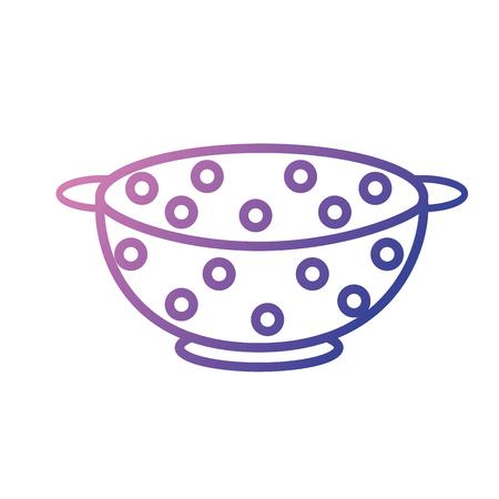 Line icon of a strainer Vetores