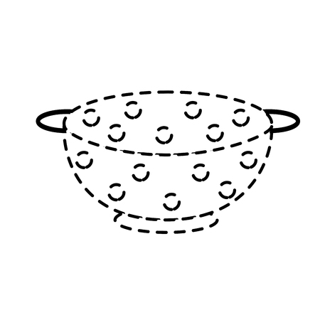 colander: Dotted strainer vector icon