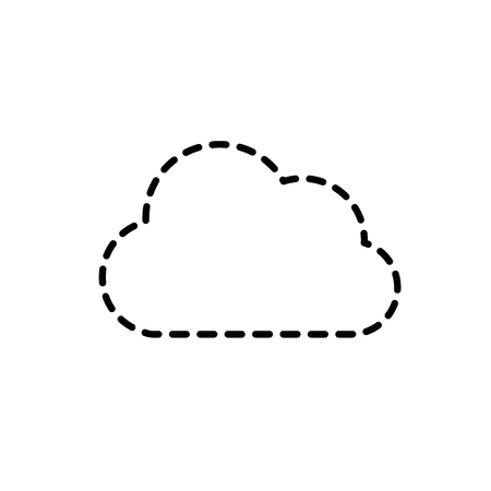 dotted shape cloud natural weather in the sky design vector illustration Illustration