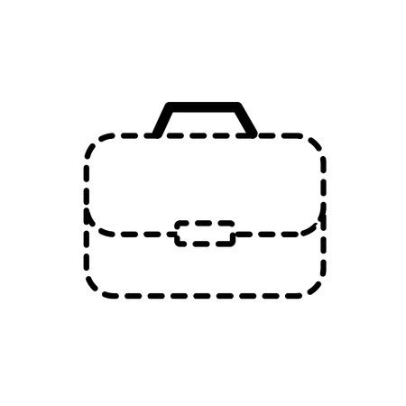 gestippelde vorm aktentas om zakenman belangrijke documenten pepers vector illustratie