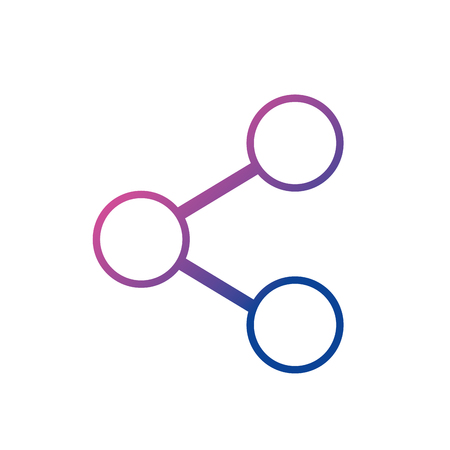 line social media share technology connection vector illustration