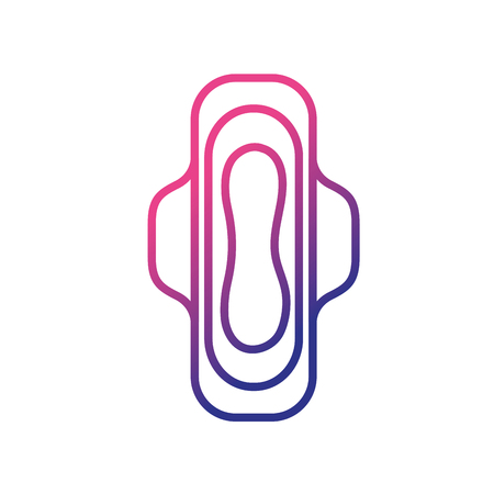 tampon: Woman sanitary protection vector illustration
