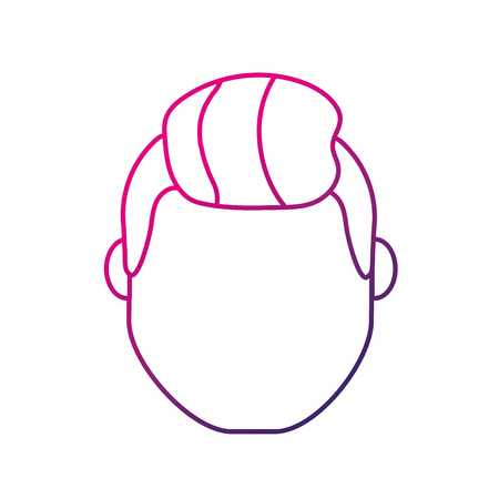 silhouette avatar man head with hairstyle design Illustration