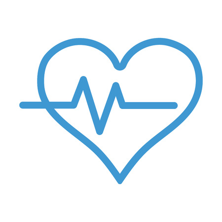 systole: line heartbeat vital sign to ekg frequency Illustration