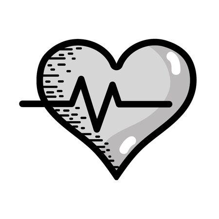 systole: grayscale heartbeat vital sign to ekg frequency