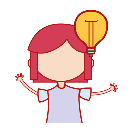 2d140b3f42c girl with bulb idea and hairstyle design