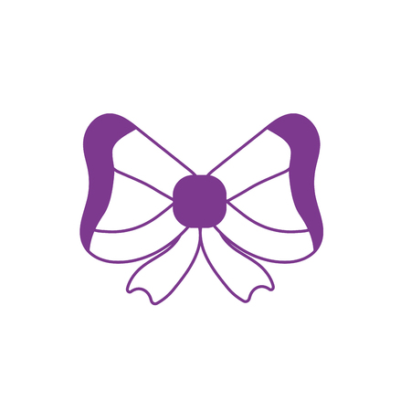 silhouette ribbon bow to decoration design event Illustration