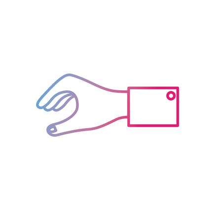 Hand for business negotiation icon