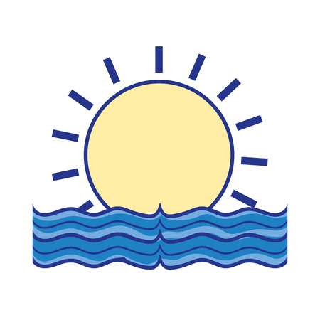sun with water flood natural disaster