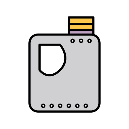 car isolated: gasoline bottle to car industrial equipment vector illustration