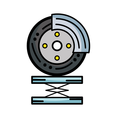 automotive industry: tire car service to mechanical repair vector illustration Illustration