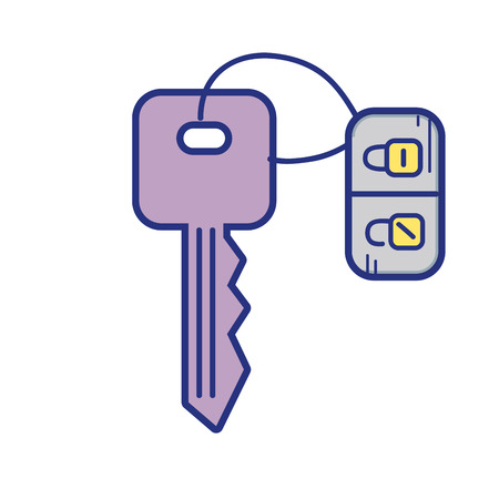 private security: key door to security and protection design vector illustration