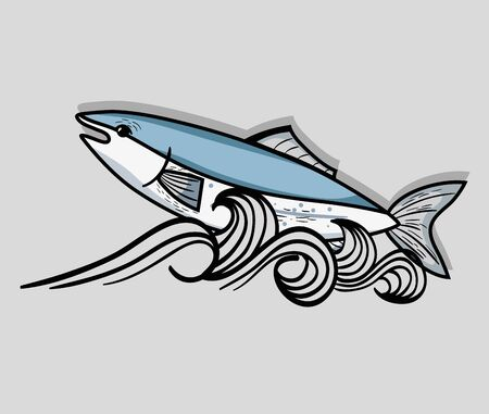 fish animal in the beauty sea design vector illustration
