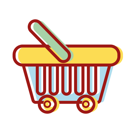 supermarket basket element to buy products vector illustration