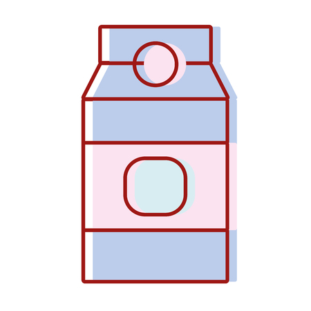 delicious milk box product to nutrient vector illustration