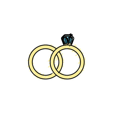 wedding ring to symbolic the love Illustration