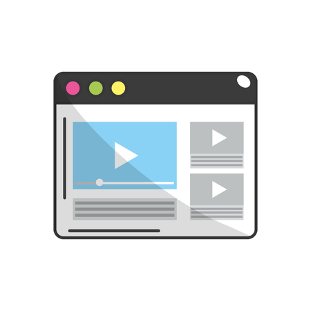 web browser: website with important videos information