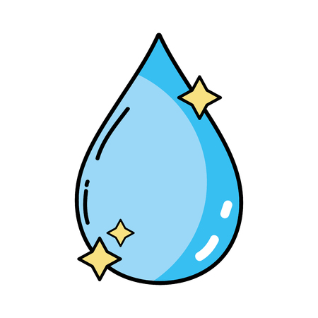 drop water: nice water drop with stars design Illustration