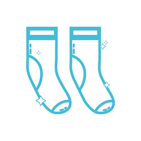 silhouette clean socks style design icon