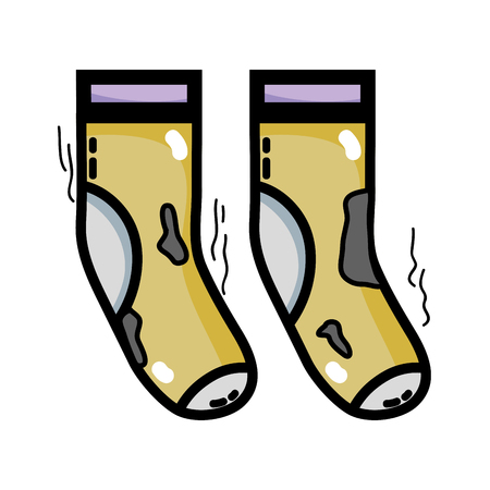 dirty socks style design icon