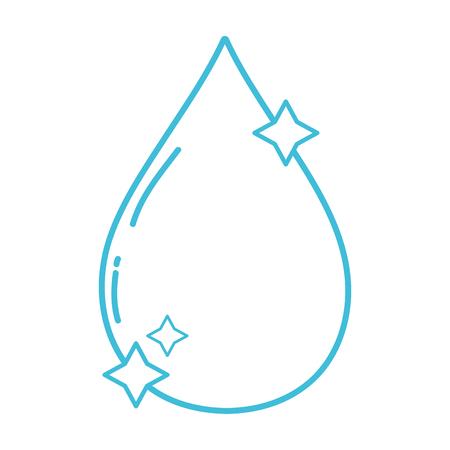 drop water: line nice water drop with stars design vector illustration