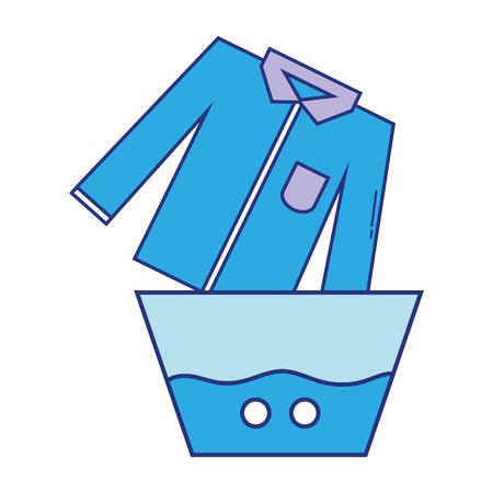 schoon shirt dat in de emmer met water loopt