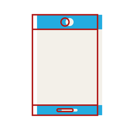 mobile device: technology smartphone electronic to call and speak vector illustration